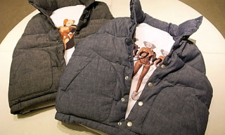 Original Fake Reversible Chambray Down Vest