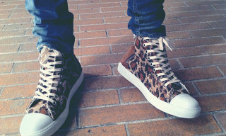 Silly Thing x Mihara Yasuhiro Leopard Sneakers