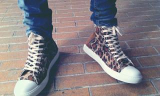 Silly Thing x Mihara Yasuhiro Leopard Sneakers