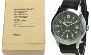 Timex x Maiden Noir Military Watch