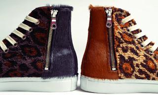 Mihara Yasuhiro x Chapel of Dawn Half Zip Leopard Sneakers