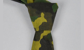 The Hillside Camo Canvas Necktie