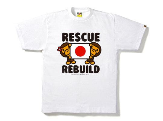 bape quotrescue and rebuildquot charity tshirt highsnobiety