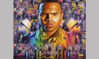 "Chris Brown ""F.A.M.E."" Cover Art by Ron English"