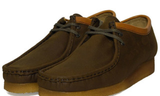 Clarks Originals Wallabee Brown Waxed Cotton
