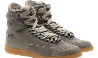 Maison Martin Margiela Suede Hi Top Chain Sneakers