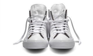 Schott NYC x Converse Chuck Taylor All Star Leather Jacket – White