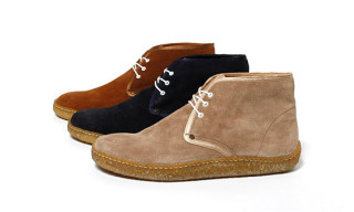 hobo Satin Tape Suede Chukka Boot