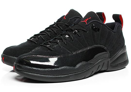Air Jordan 12 Bas Verni Noir À Vendre