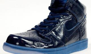 Nike Dunk High Premium Navy Crinkled Patent