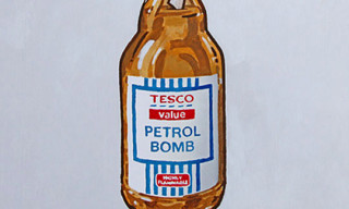 "Banksy ""Tesco"" Print for Bristol Anarchist Bookfair"