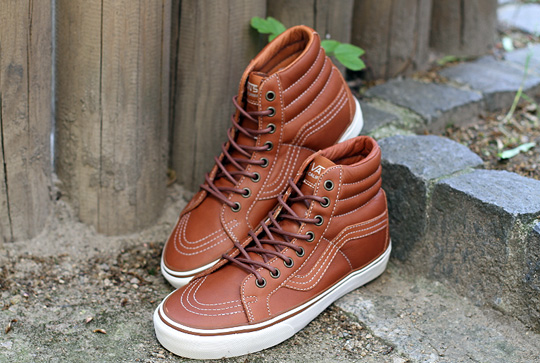 vans brown leather high tops