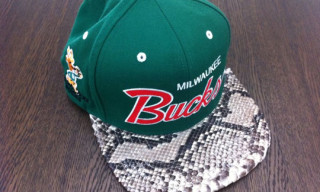 Mitchell & Ness Custom Snakeskin Caps by Don C