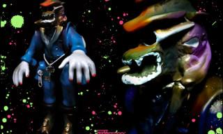 """RAMMELLZEE x Made by Monsters """"Barshaw Gangstarr"""" Vinyl Sculpture"""