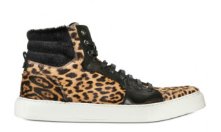 Yves Saint-Laurent Pony Hair 'Leopard' Sneakers