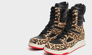 Diet Butcher Slim Skin Leopard-Print High Top Sneakers