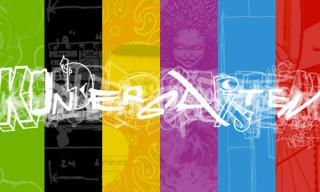 'Kindergarten' Exhibition Typography Poster Series