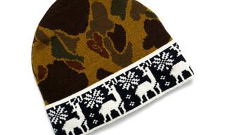GANT by Michael Bastian Camouflage Reindeer Wool Hat