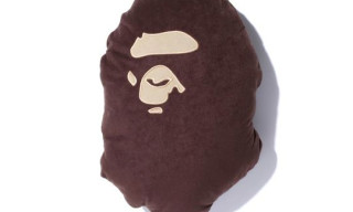 A Bathing Ape 'Bape Head' Flannel Cushion