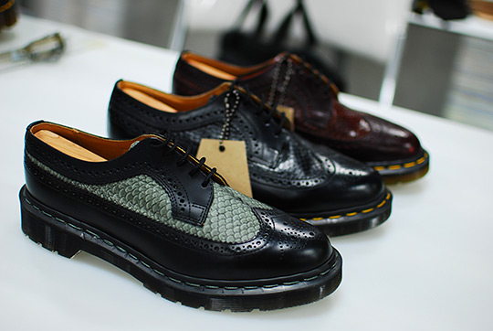 Dr martens made in england fish scale brogues for Fish scale boots