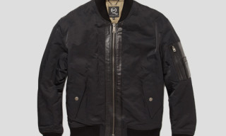 McQ Leather Trimmed Bomber Jacket