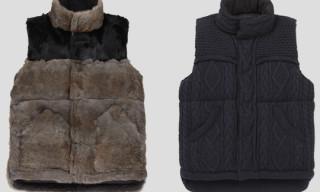 Mihara Yasuhiro Knit & Rabbit Fur Down Vests