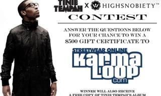 Tinie Tempah x Highsnobiety – $500 Karmaloop Giveaway