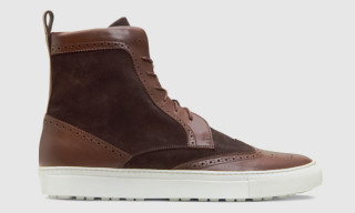 Trussardi 1911 High Top Wingtip Sneaker