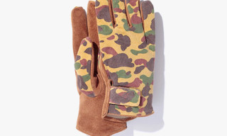 Bape 1st Camo Leather Gloves