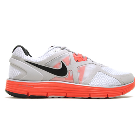 Nike LunarGlide 3+ Pure Platinum/Wolf Grey/Max Orange | Highsnobiety