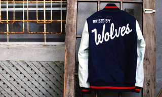 Ebbets Field Flannels x Raised by Wolves x Sam Bat Varsity Jacket
