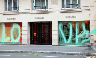 Kidult Tags Hermès Paris Store With 'Love'