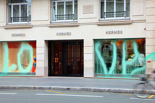kidult tags herm s paris store with 39 love 39 highsnobiety. Black Bedroom Furniture Sets. Home Design Ideas