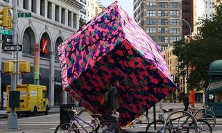 Olek Crochets Astor Place Cube