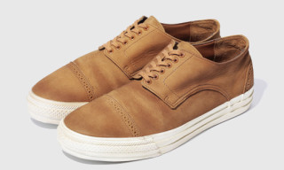 Swagger Cap Toe Leather Sneakers
