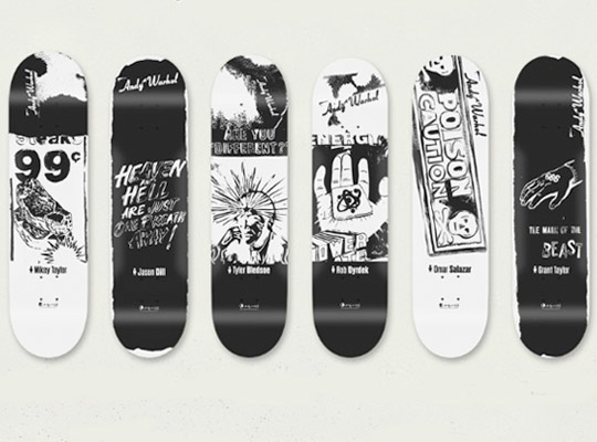 Tesla Model S Custom >> Alien Workshop x Andy Warhol Black and White Skate Decks ...