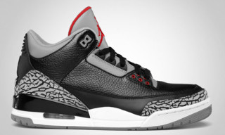 Air Jordan 3 Retro Black/Varsity Red – Cement Grey