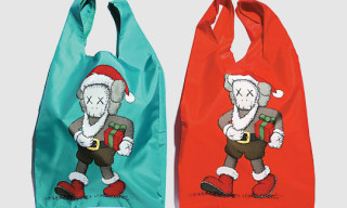 "Kaws x Harbour City x AllRightsReserved ""Santa Cross Is Coming To City"" Tote Bags"