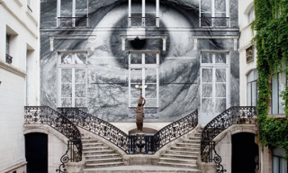 JR Covers Galerie Perrotin Facade in Gigantic Artwork