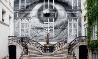 JR Covers Galerie Perrotin Facade in Gigantic Artwork