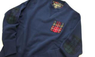 Loopwheeler x Harris Tweed Crewneck Sweaters