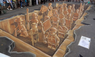 Planet Streetpainting Creates 3D LEGO Army