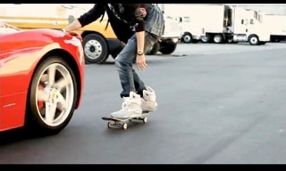 Video: Drama Skateboards in Nike Mags, Visits Rudy Gay
