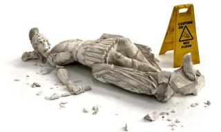 Banksy 'Fallen Soldier' Sculpture