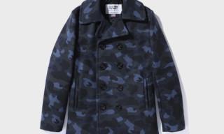 Bape x Schott NYC 1st Camo Pea Coat