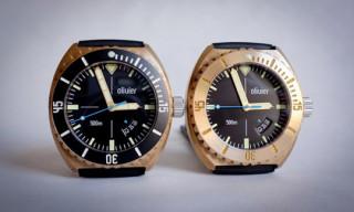 Olivier Bronze Diver Watch