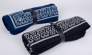 Original Fake Bandana Pattern Fleece Blankets