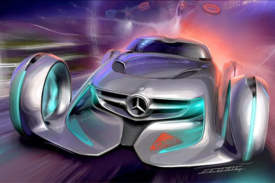 Range Rover Evoque >> Video: Hans and Franz - Silver Lightning (Mercedes Benz ...