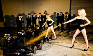 Occupy Fashion! Tyler Shields Makes Models Pepper Spray London Riot Cops
