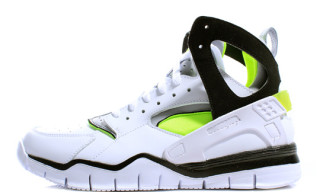 Nike Air Huarache Free Basketball 2012 – White/Black/Volt